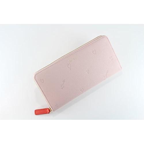 ポールスミス 財布 レディース ファスナー長財布 スミシーハート W804 ピンク pauls485