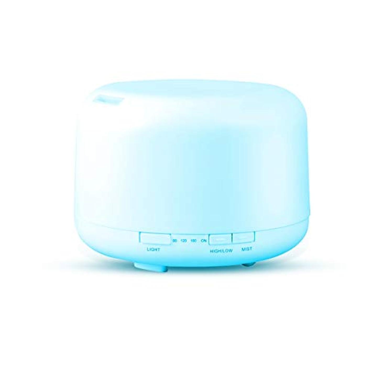 Fashion·LIFE アロマディフューザー アロマ加湿器 超音波式 500ml 空気清浄機 七色変換LEDライト 静音 タイマー機能 空焚き防止 部屋 会社 温泉など用