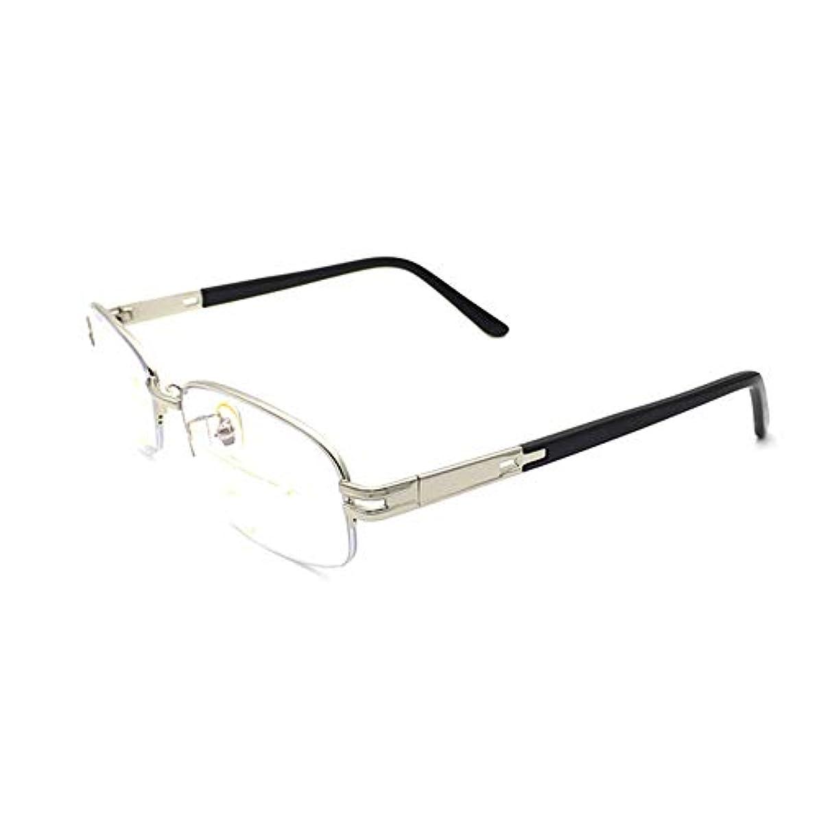 オピエート険しい見ましたインテリジェントプログレッシブマルチフォーカス老眼鏡、近用および両用UVゴーグル、男性用および女性用ファッション超軽量コンピューターモバイルメガネ、目の疲労防止