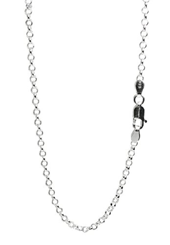 新宿銀の蔵 ロールチェーン 長さ40~60cm (50cm) 幅2.3mm シルバー 925 ネックレス チェーン ネックレスチェーン メンズ 人気 sv925