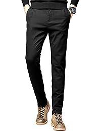 ROMANEE-CONTIチノパン メンズ ロングパンツ ズボン スキニーパンツ ボトムス 下着 秋 冬 ブラック ネイビー ダークグリーン 綿 ストレッチ 細身 美脚
