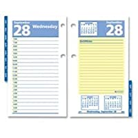 daily calendar refill quicknotes 2ppd 3 1 2x6 yw be ink by at a