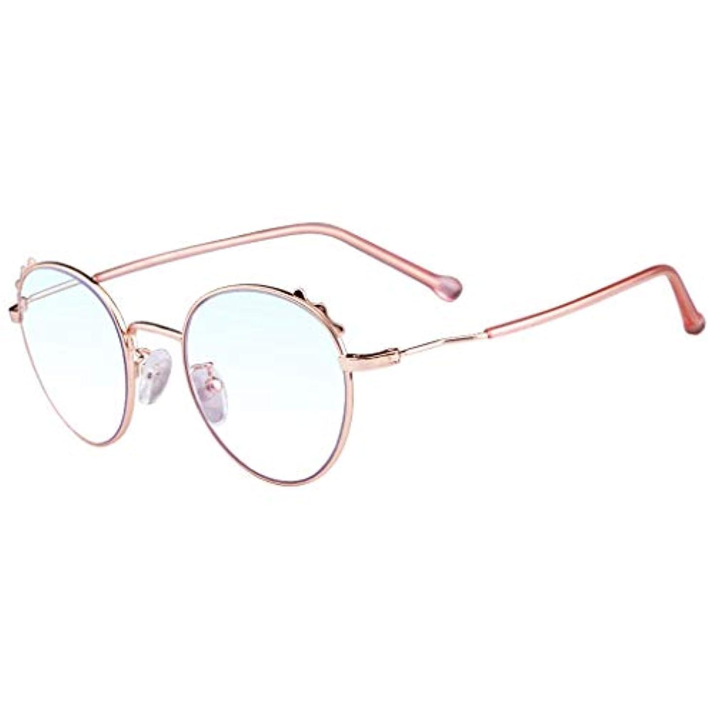 LCSHAN ラウンドフレーム老眼鏡レトロ遠近両用アンチブルーライトインテリジェントオートズームHDラージフレーム (Color : Pink, Size : 350 degrees)