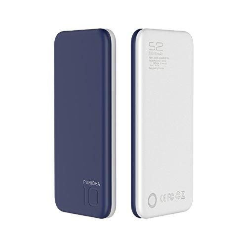 PURIDEA モバイルバッテリー 10000mAh 紺色