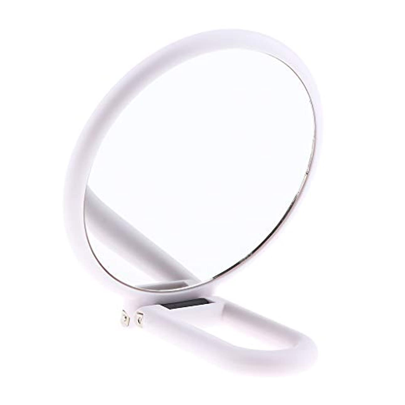 優越何十人もループP Prettyia ダブルサイド化粧鏡 拡大鏡 メイクアップミラー 旅行小部 白い 折りたたみ式 5仕様選べ - 10倍