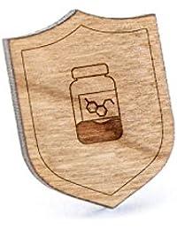 Serotoninラペルピン、木製ピンとタイタック|素朴な、ミニマルGroomsmenギフト、ウェディングアクセサリー
