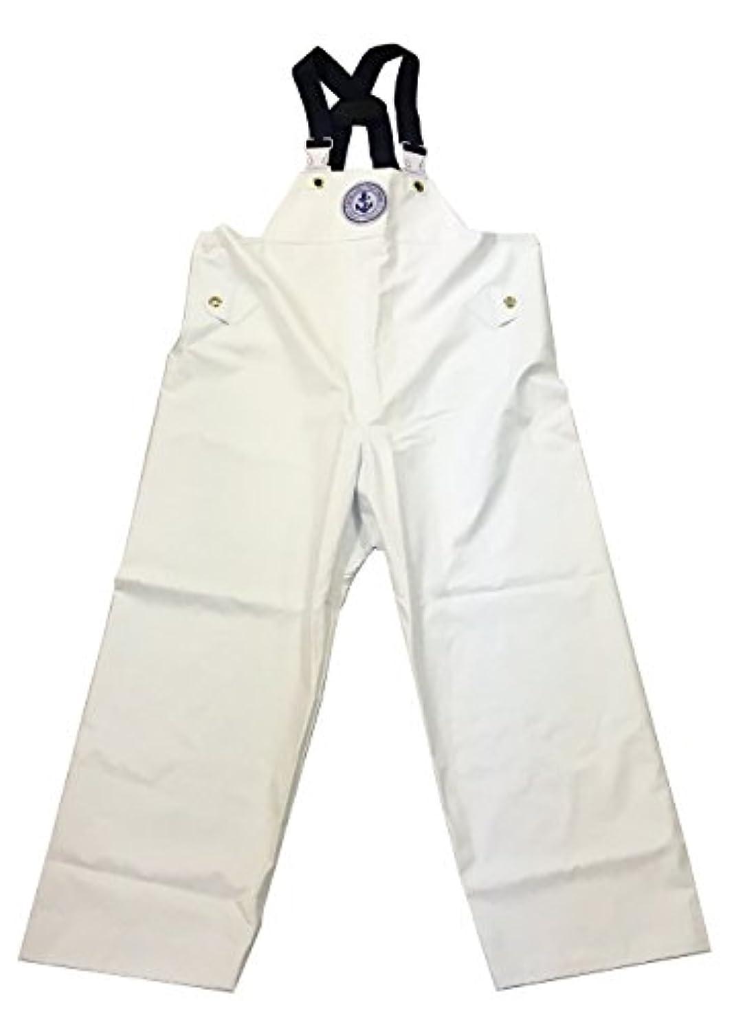 座標ミリメートル流行しているKURAHUTERU(クラフテル) イカリ印 フィッシャーマン レインウエアー 胸付ズボン 5L 白 11EA146