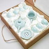 茶器セット(弟窯粉青)茶壺150ml、茶海140ml、茶漉、杯25ml×6個