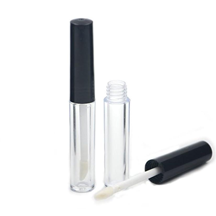 体細胞剛性バケットAngelakerry リップグロスチューブ 1.3ml ブラック リップグロス容器 手作り化粧品 手作りコスメ 化粧品容器 20本セット [並行輸入品]