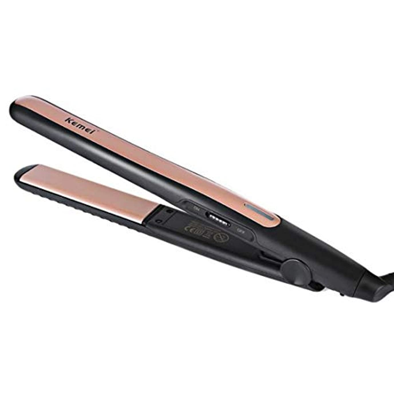 とても槍著作権LEDディスプレイ調節可能な温度カーラープロのヘアカーラー モデリングツール (色 : ゴールド)