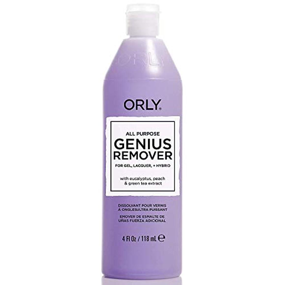 真面目なホールド救急車ORLY - All Purpose Genuis Remover- Gel Remover - 4oz / 118ml