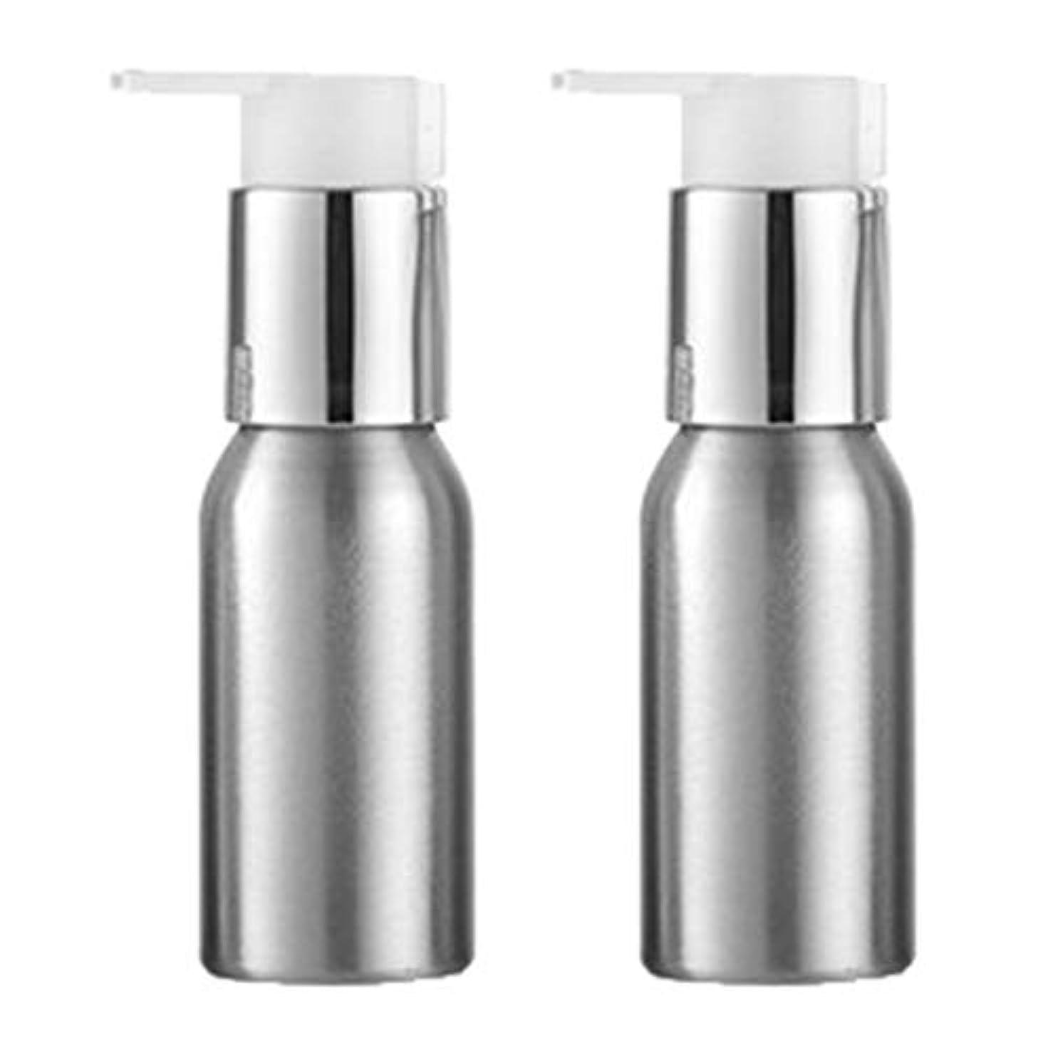 ロシアオプション噴水Injoyo アルミ 詰替えボトル ポンプボトル シャンプーボトル ローションボトル プレスボトル 2個 全6サイズ - 50ml