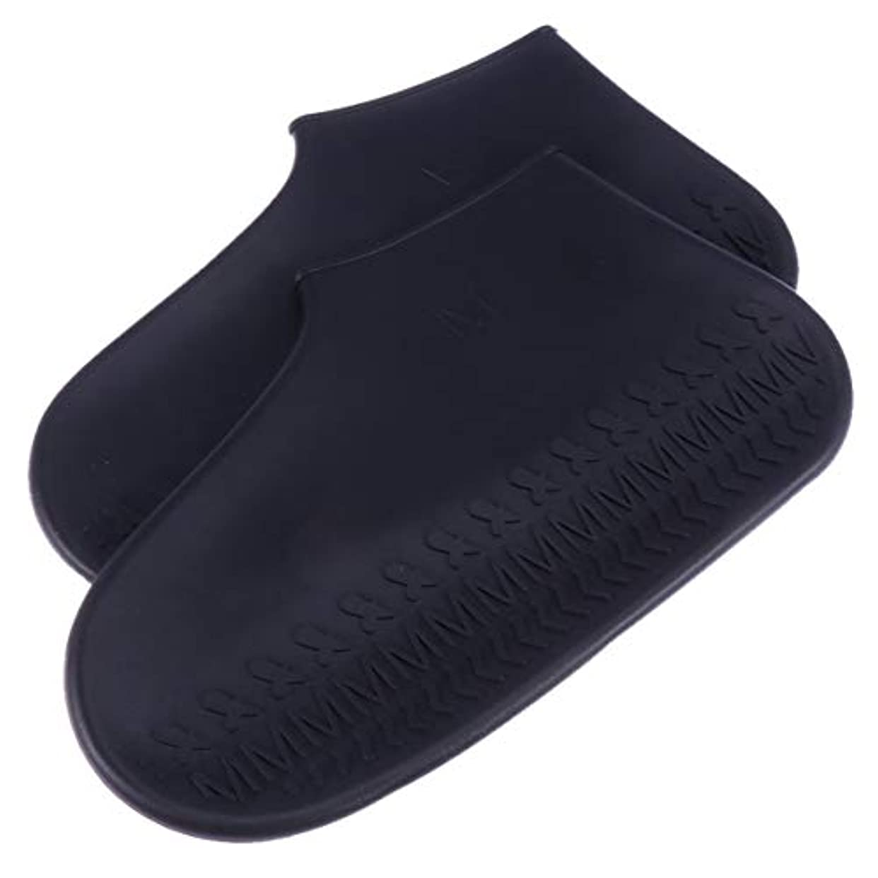 遺棄された相対的雑多なHealifty 滑り止め靴カバーブーツカバーサイズl(黒)
