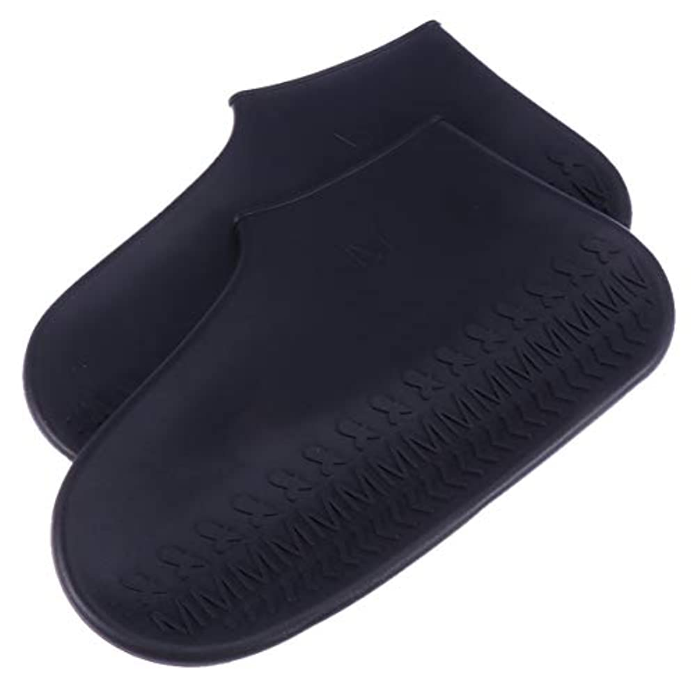 アロング戻す受信Healifty 滑り止め靴カバーブーツカバーサイズl(黒)