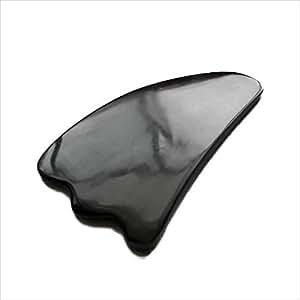 かっさプレートK 正規品 高品質 天然水牛の角 羽型 かっさプレート (顔、ボディのリンパマッサージ)