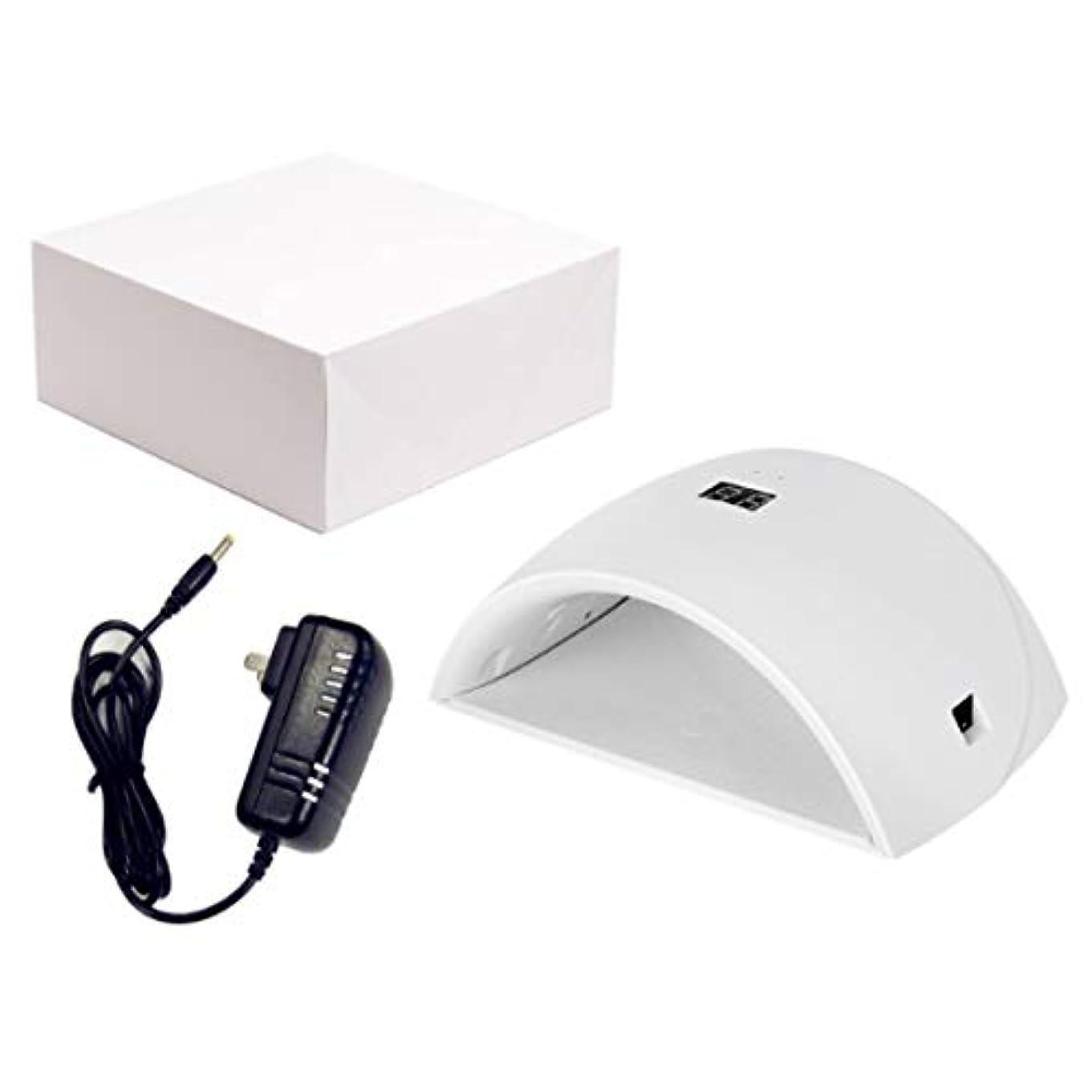 配置ウィザード眉UVネイルライト、ジェルベース研磨マニキュア/ペディキュア99s無痛モード用ポータブル36Wネイルドライヤー
