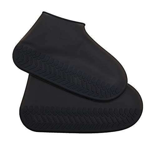 [todaysunny] シューズカバー レディース メンズ キッズ 防水 レインシューズ レインブーツ 靴カバー アウトドア防水靴カバー シリコンシューカバー 軽量 滑り止め 携帯便利 梅雨対策 男女兼用 子供も適用 ブラック L