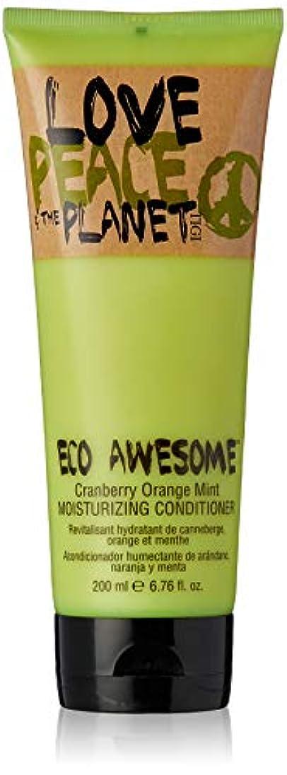 見物人炎上くまTIGI Love Peace and The Planet Eco Awesome Cranberry Orange Mint Moisturizing Conditioner 200 ml (並行輸入品)
