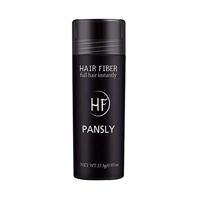 ほこりっぽい魔術優雅SUPVOX 髪を薄くするためのヘアファイバースプレーポータブルヘアビルディングエクステンションパウダー(黒)