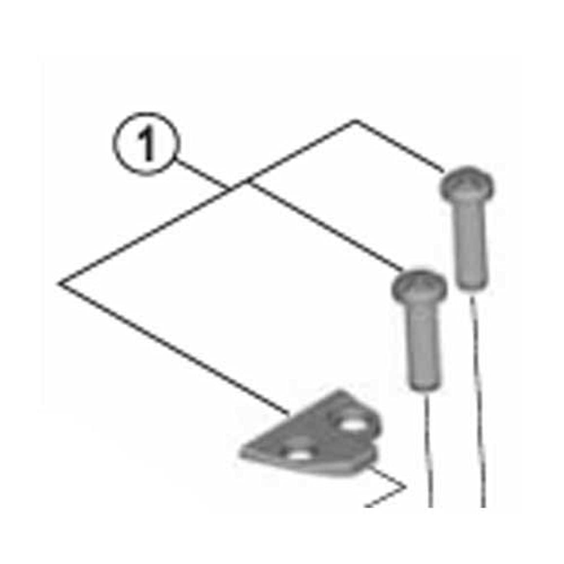 血色の良い寄託動かないシマノ アジャストボルト(M4×15)&プレート(バンド式用) Y5P198010