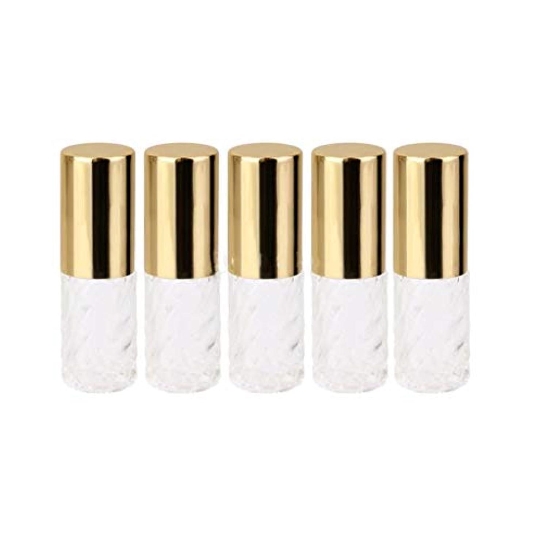 オズワルドスマッシュトロピカル5ピース   5ml ガラスローラーボトル 透明な交換旅行 空のロールオン ガラス香水瓶