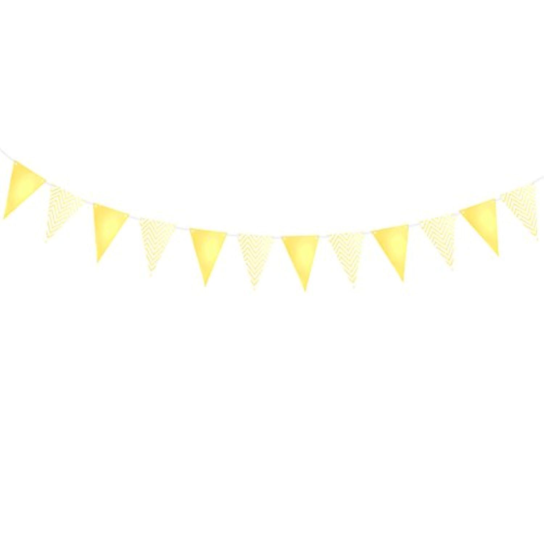 BESTOYARD キッズ バースデー バナー バンティング リップル ストライプ ペナント フラッグ 赤ちゃんの部屋 保育園 ガーランド デコレーション 赤ちゃんの誕生日パーティー用