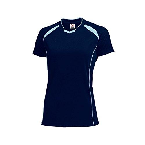 [해외]wundou (운동) P-1620 여성 배구 셔츠 P-1620 81 네이비 × 삭스 XXL/wundou (UNDO) P-1620 Women`s volleyball shirt P-1620 81 Navy × Sachs XXL