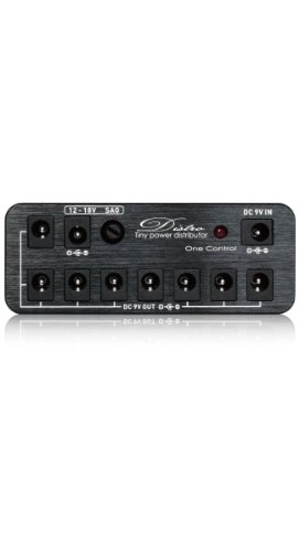 One Control ワンコントロール エフェクター用 パワーサプライ スターターキット Distro All In One Pack ブラック  DCケーブル アダプタ付き