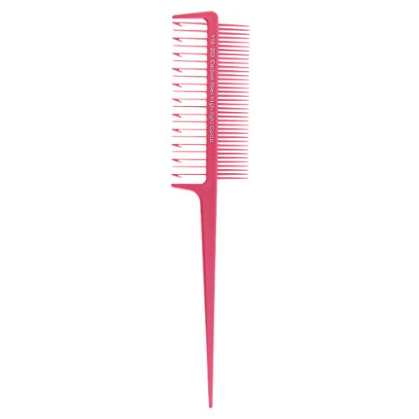 論理的に掘るゴムCUTICATE 全4色 くし ハイライトコーム 染色櫛 染色コーム ヘアカラー 大人気 - ピンク
