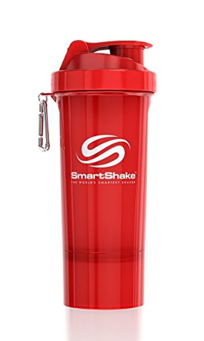 ピル透明に心配するSmartShake Slim(スマートシェイク スリム)RED 500ml プロテインシェイカー