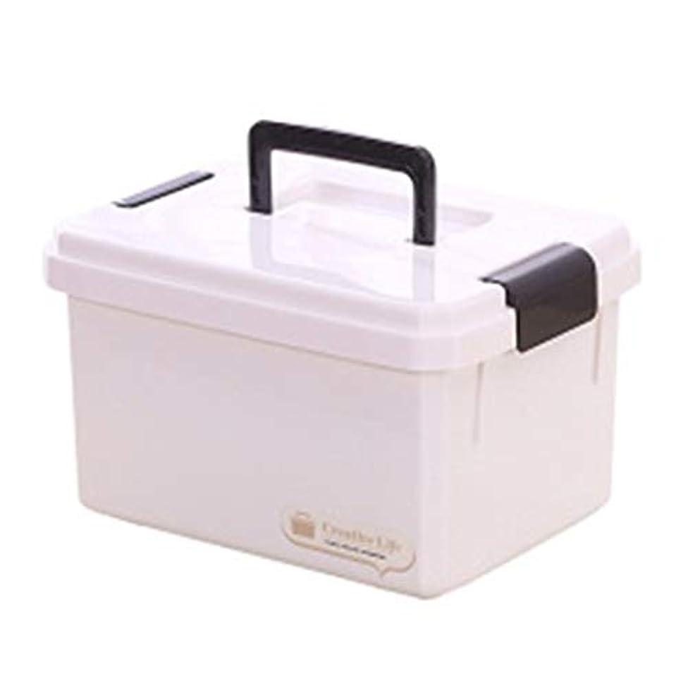 ライバル歪める予見するFirst aid kit 多層セミコロン応急処置キット子供のミニ薬箱ファミリー機器フルセット4サイズ利用可能 XBCDP (Size : L)