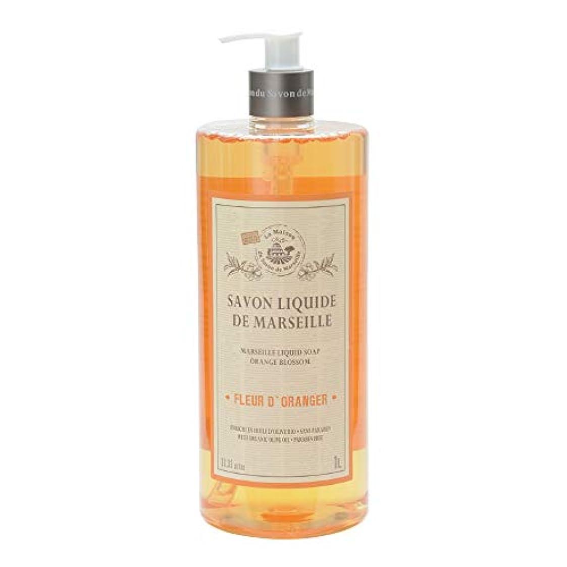 リスキーな咲く予言するノルコーポレーション マルセイユ石鹸 リキッドソープ 1L オレンジの香り MLL-2-3