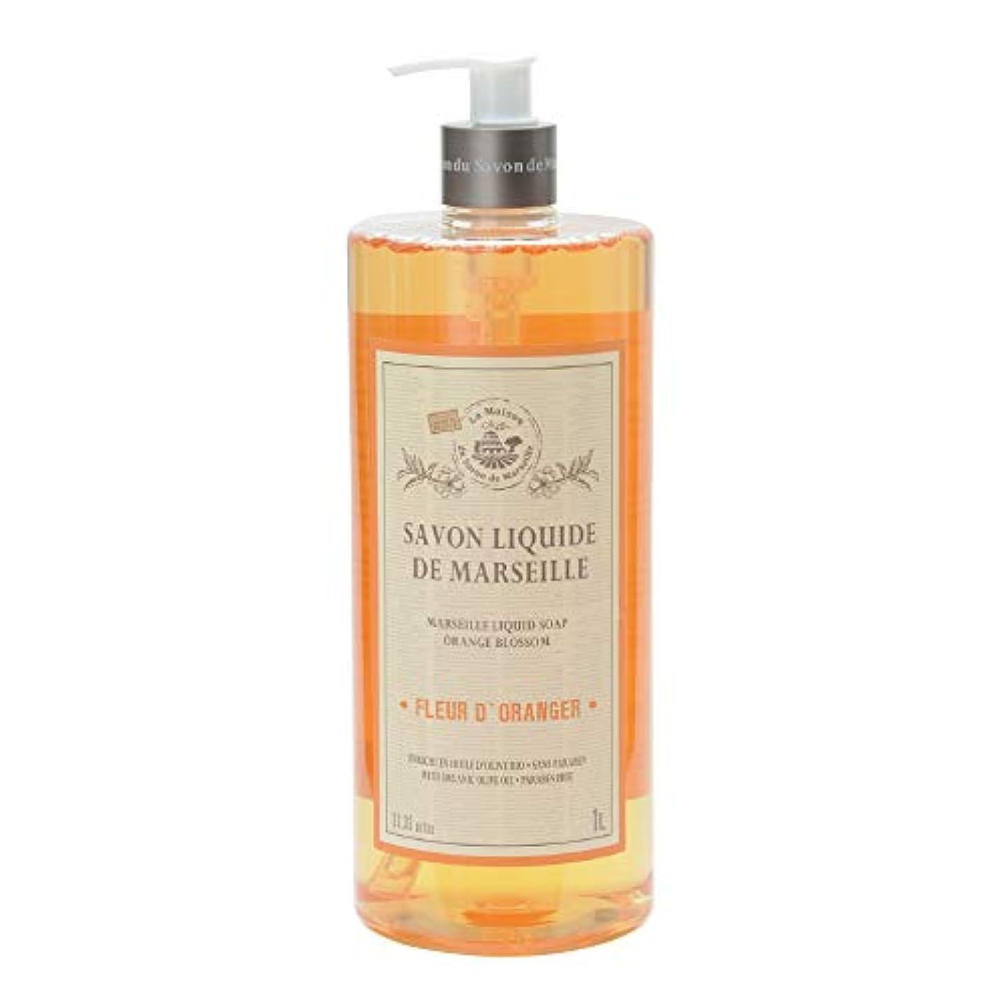 ニンニク成果スカウトノルコーポレーション マルセイユ石鹸 リキッドソープ 1L オレンジの香り MLL-2-3