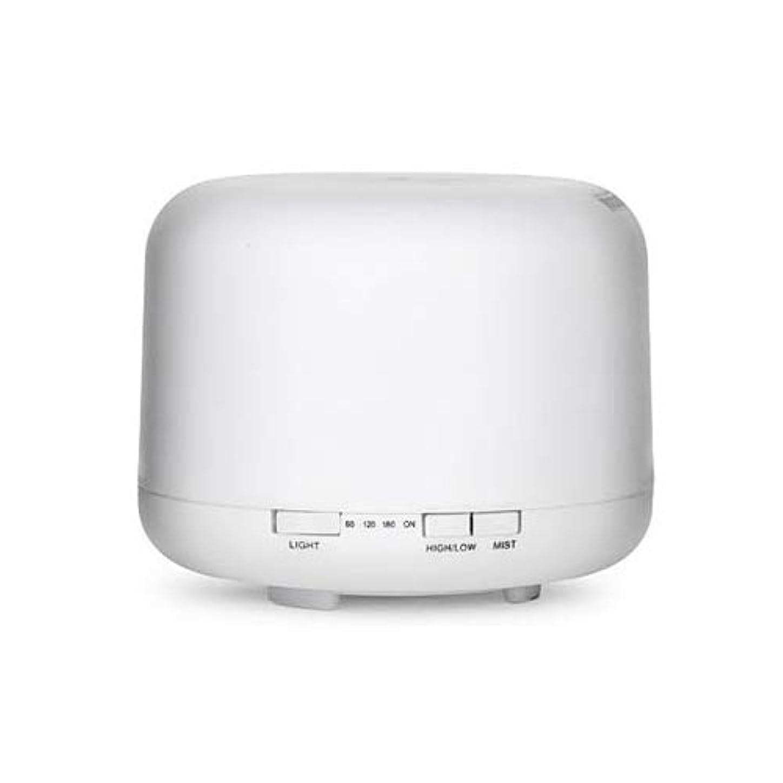 生き残りハプニング予約WONDER LABO》超音波加湿器 ミスト アロマディフューザー 加湿器 気化式 乾燥対策 7色変換LED付き 卓上 オフィス 空焚き防止 静音 500ml
