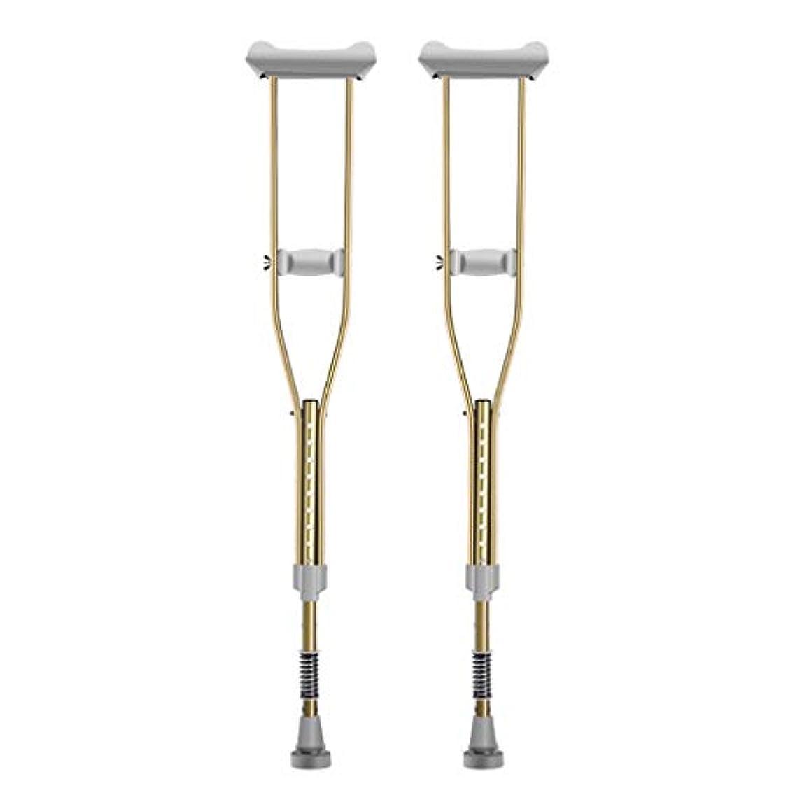 すべきご飯検査松葉杖、脇の下調整可能なアルミ松葉杖、老人ダブル松葉杖、アンチスキッドウォーカー松葉杖