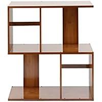 DD シューズホルダー S字型の2/3/4/5-Tier本棚竹のリビングルームの本棚パーティションシェルフの組み合わせブックシェルフアセンブリが必要 木製ラック (サイズ さいず : 60 * 24.5 * 68.5cm)