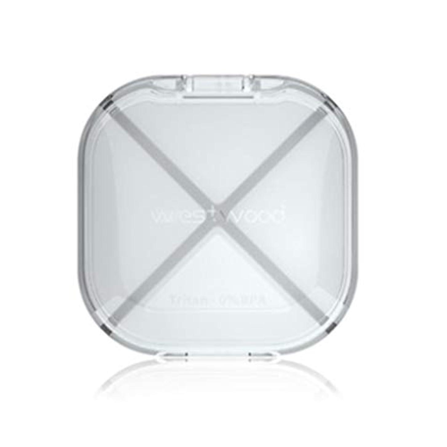 管理者麻痺あなたは緊急用バッグ ポータブルピルボックス密閉ピル収納装置ミニピル収納ボックス/黒、白、ピンク、赤 HMMSP (Color : White)