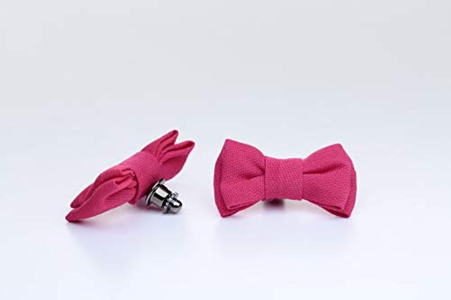 米国パーツ接続詞アロマピンズ リボン #2(ピンク)