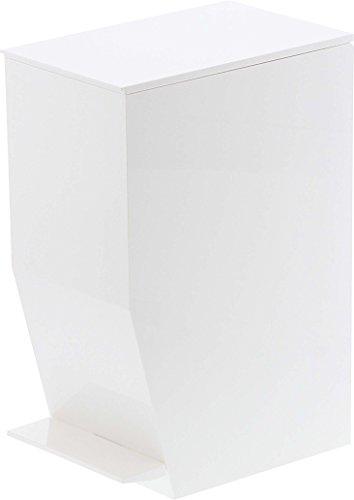 山崎実業 ゴミ箱 ペダル式トイレポット タワー ホワイト