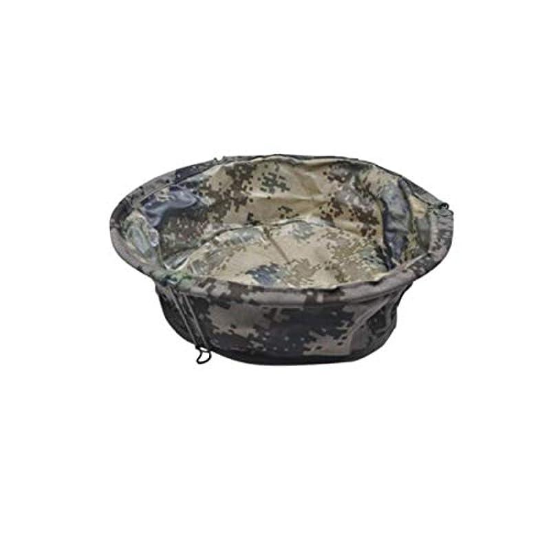 聴覚意志付添人XIONGHAIZI 折りたたみ式洗面器、キャンバス折りたたみ式デジタル迷彩洗面器、屋外用キャンプ用品
