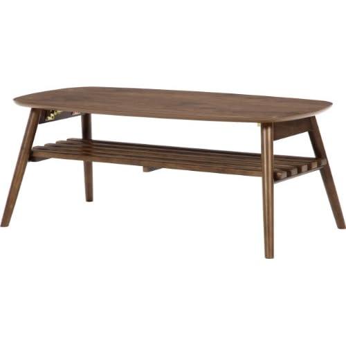不二貿易 折脚センターテーブル ノルン ブラウン 6310-19SKV 95780