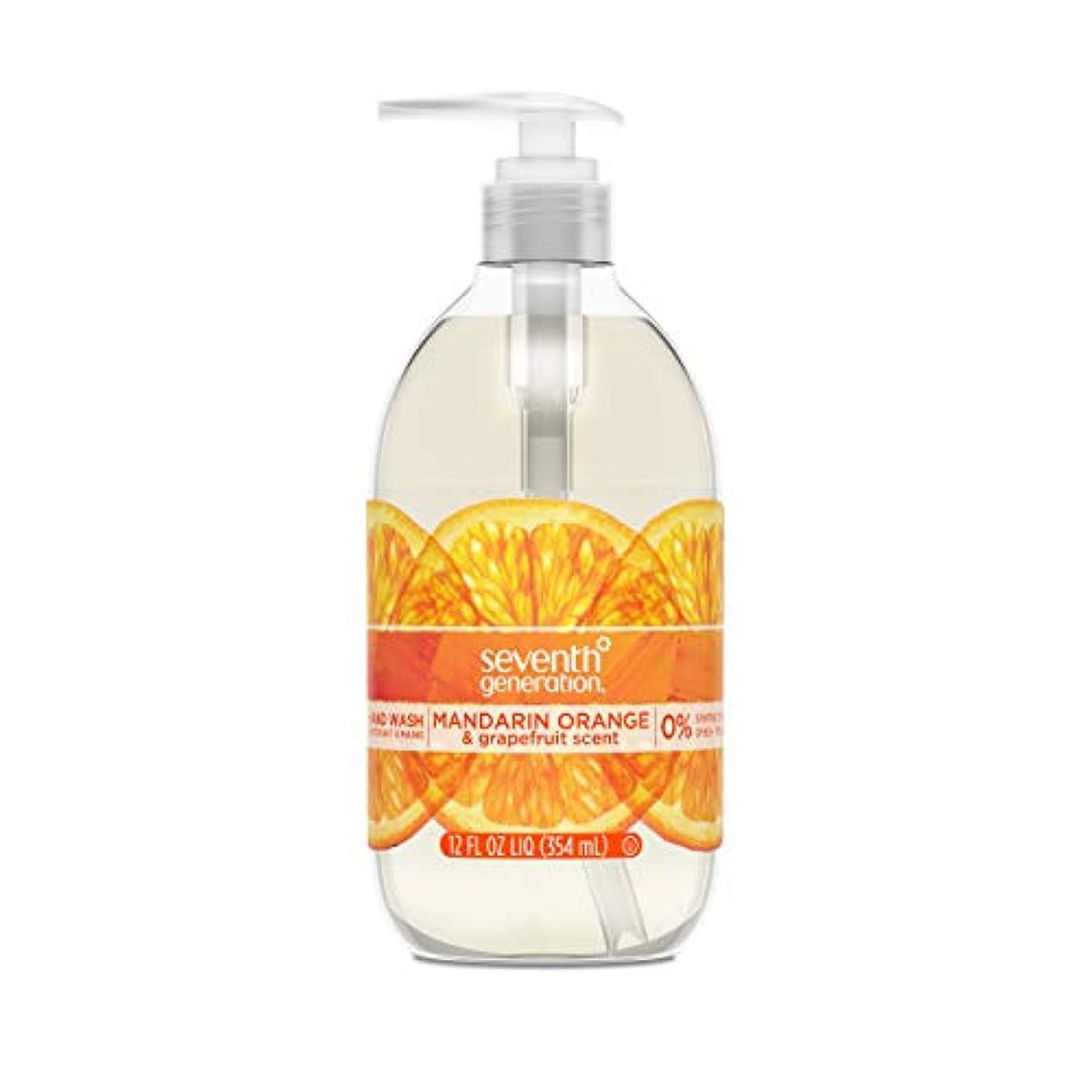 パーチナシティ薬剤師離すSeventh Generation Hand Wash, Mandarin Orange & Grapefruit , 12 Fl Oz by Seventh Generation
