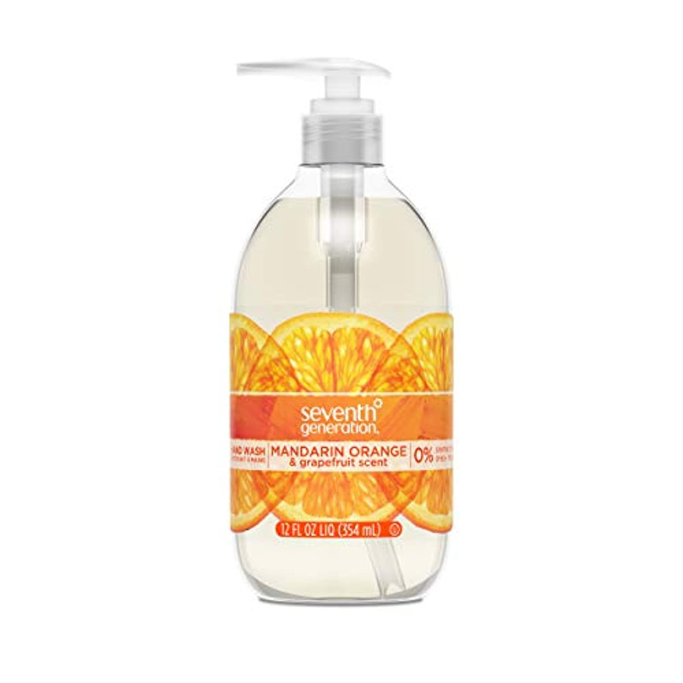考古学者流産流行Seventh Generation Hand Wash, Mandarin Orange & Grapefruit , 12 Fl Oz by Seventh Generation