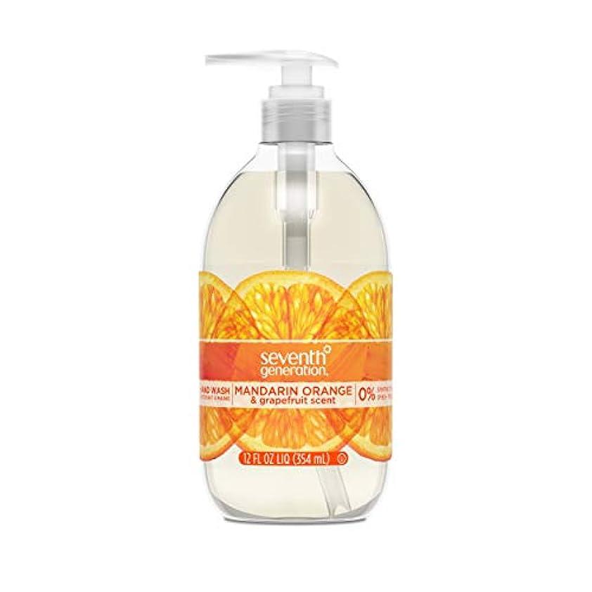 ピューマーキー兵器庫Seventh Generation Hand Wash, Mandarin Orange & Grapefruit , 12 Fl Oz by Seventh Generation