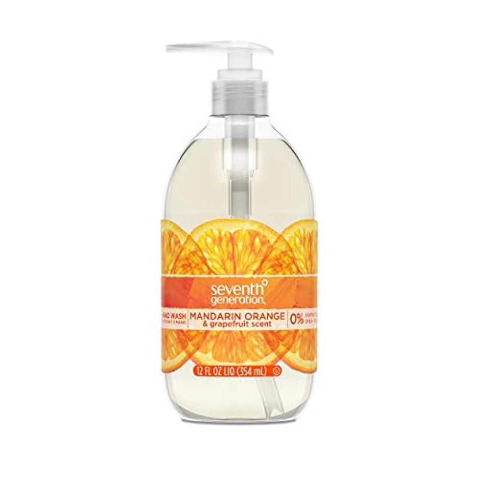 あそこスイス人ファイバSeventh Generation Hand Wash, Mandarin Orange & Grapefruit , 12 Fl Oz by Seventh Generation