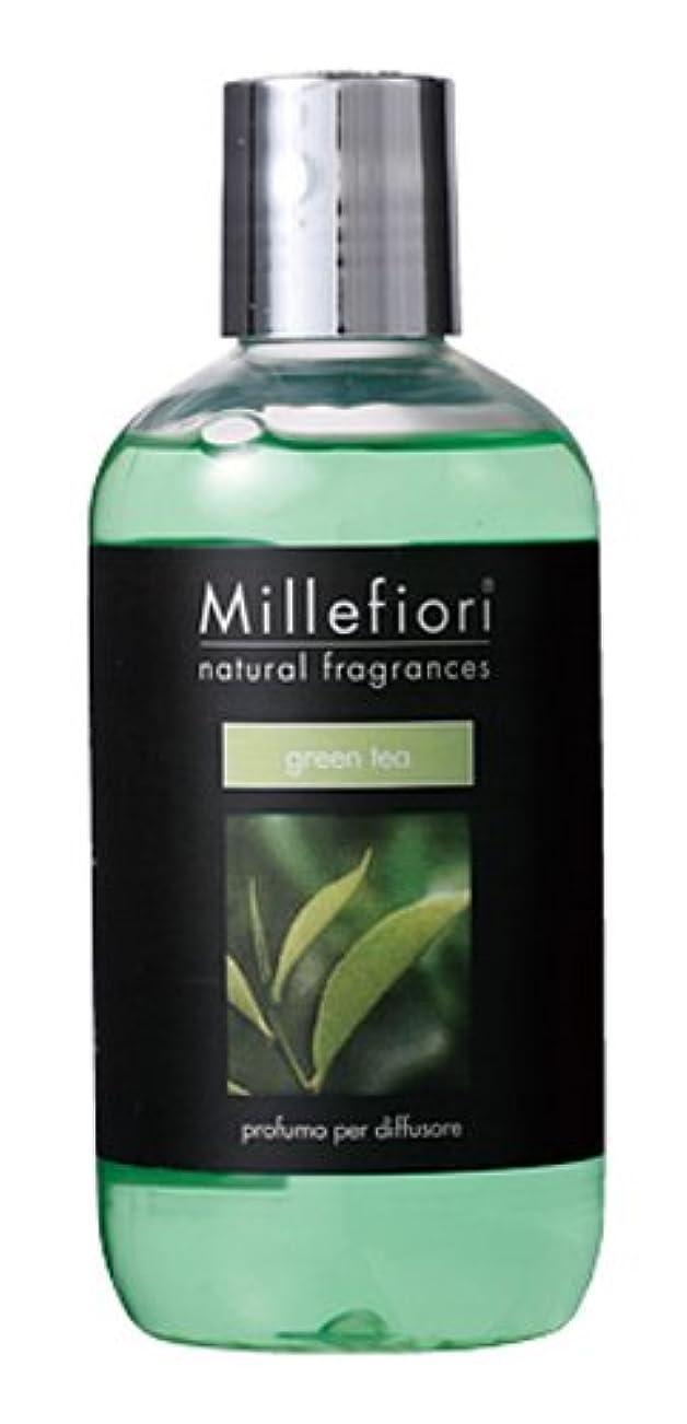ノベルティ脅威消費者Millefiori NATURAL FRAGRANCES フレグランスディフューザー専用リフィル 250ml グリーンティー DIF-25-011