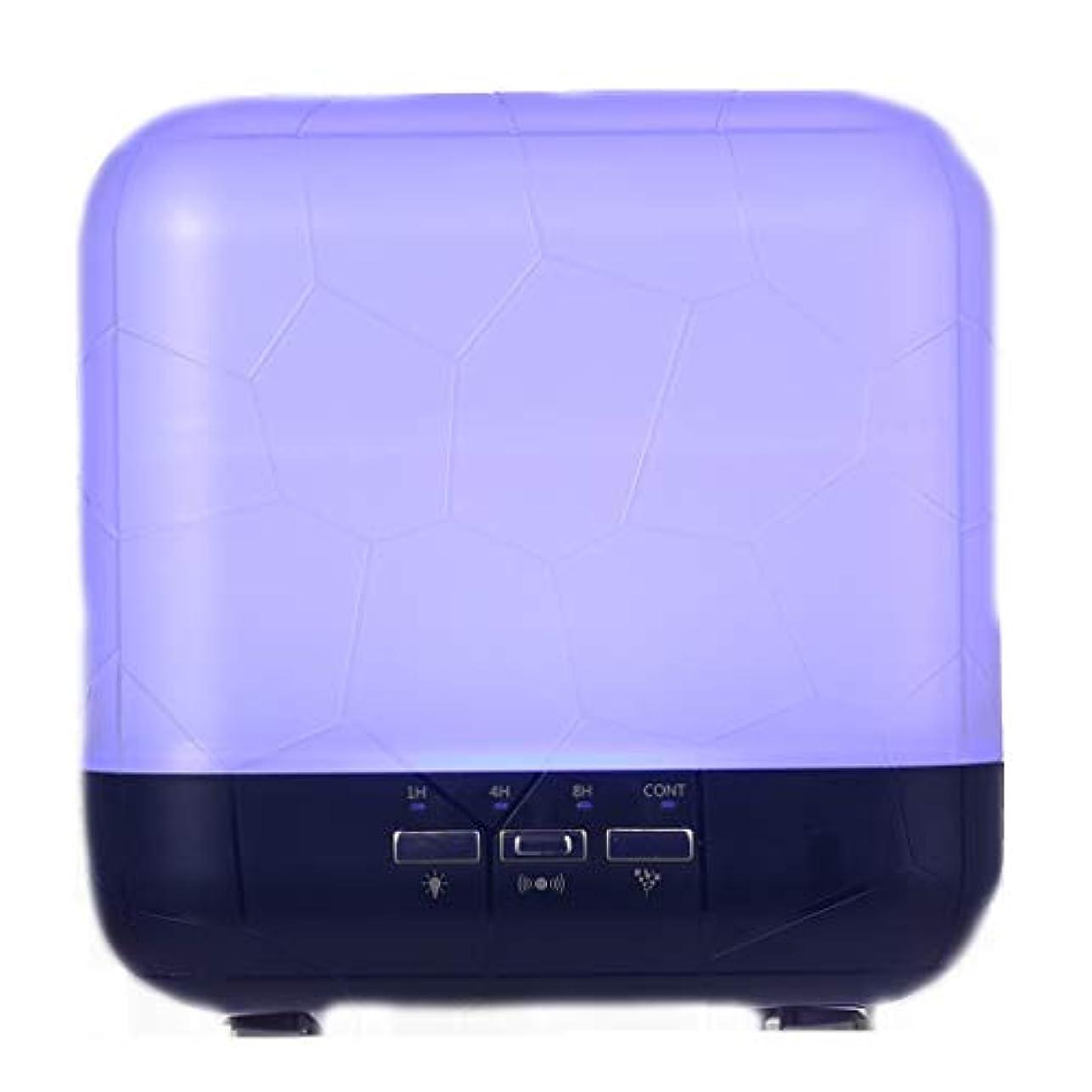 摂氏度アルコーブ腹部拡散器、調節可能なミストモード、寝室/オフィス/旅行のためのアロマセラピー機械を離れた自動のHomeweeks 1000ml多彩な精油の拡散器 (Color : Purple)