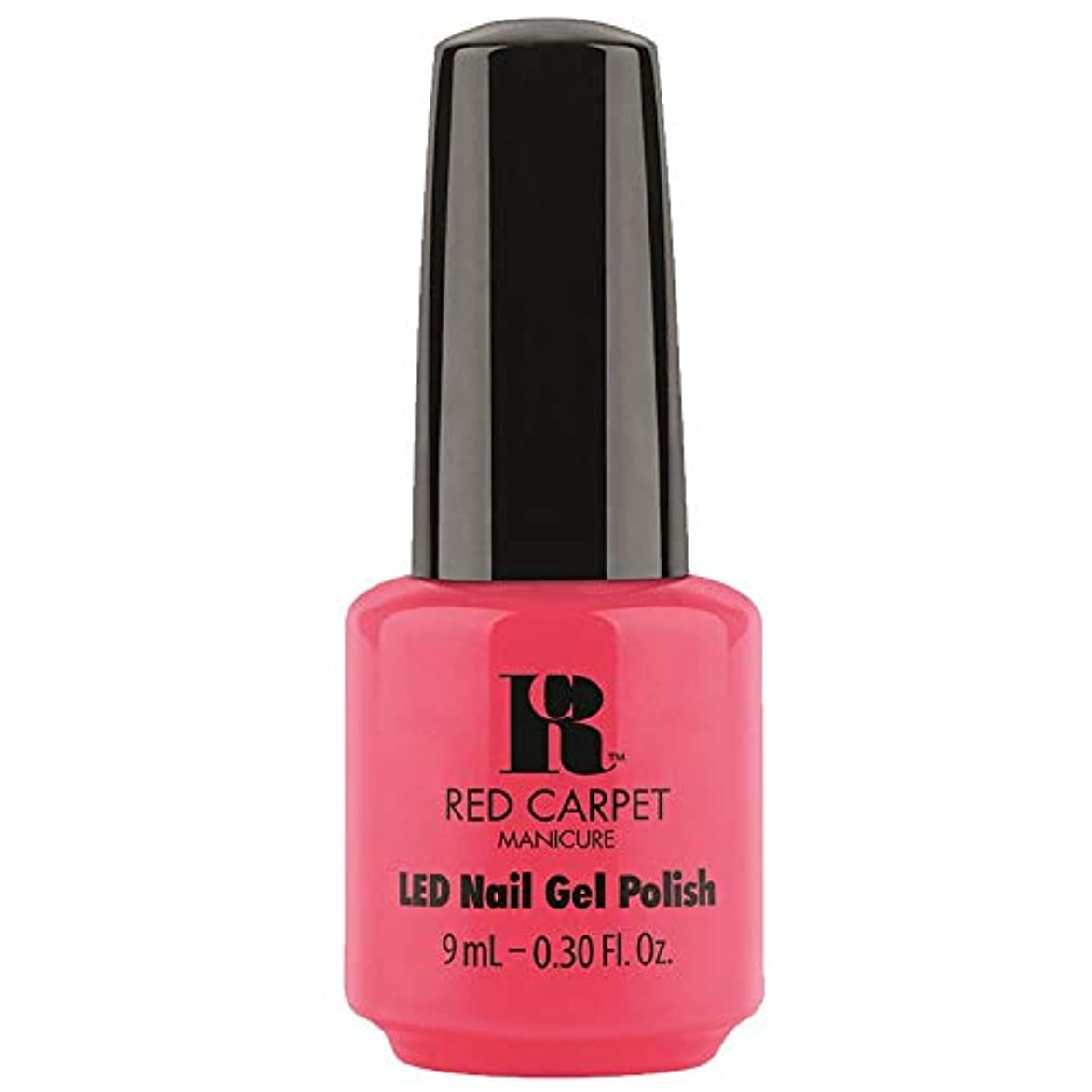 キャラバン修理工副産物Red Carpet Manicure - LED Nail Gel Polish - Sun Kiss & Tell - 0.3oz / 9ml
