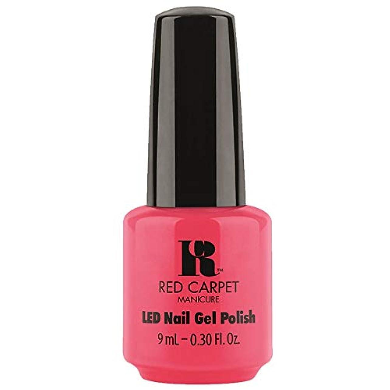 ウェーハエンドテーブルメナジェリーRed Carpet Manicure - LED Nail Gel Polish - Sun Kiss & Tell - 0.3oz / 9ml