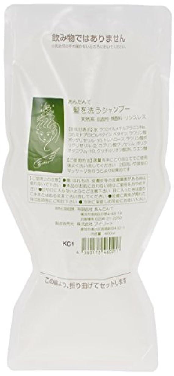 クレタ一豆あんだんて 髪を洗うシャンプー 400ml パウチ